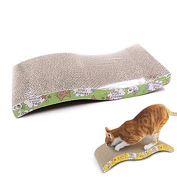 Womdee Rascador de cartón para Mujer con diseño de Gato, no tóxico, Respetuoso con el Medio ...