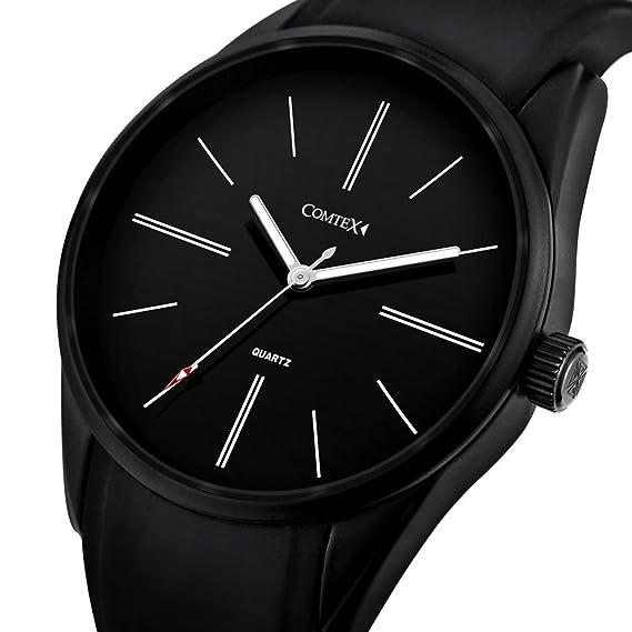 promo code 00612 03e1b Comtex 腕時計 ブラック クオーツ 防水 ウオッチ アウトドア スポーツ 時計 メンズ