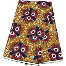 African ankara fabric African wax Print fabric for sewing dress Clothing Designs Wax Material For Fashion, Dresses, Top, Skirt, Jewelry, Shoes, Bags, Head Wraps 6 Yards