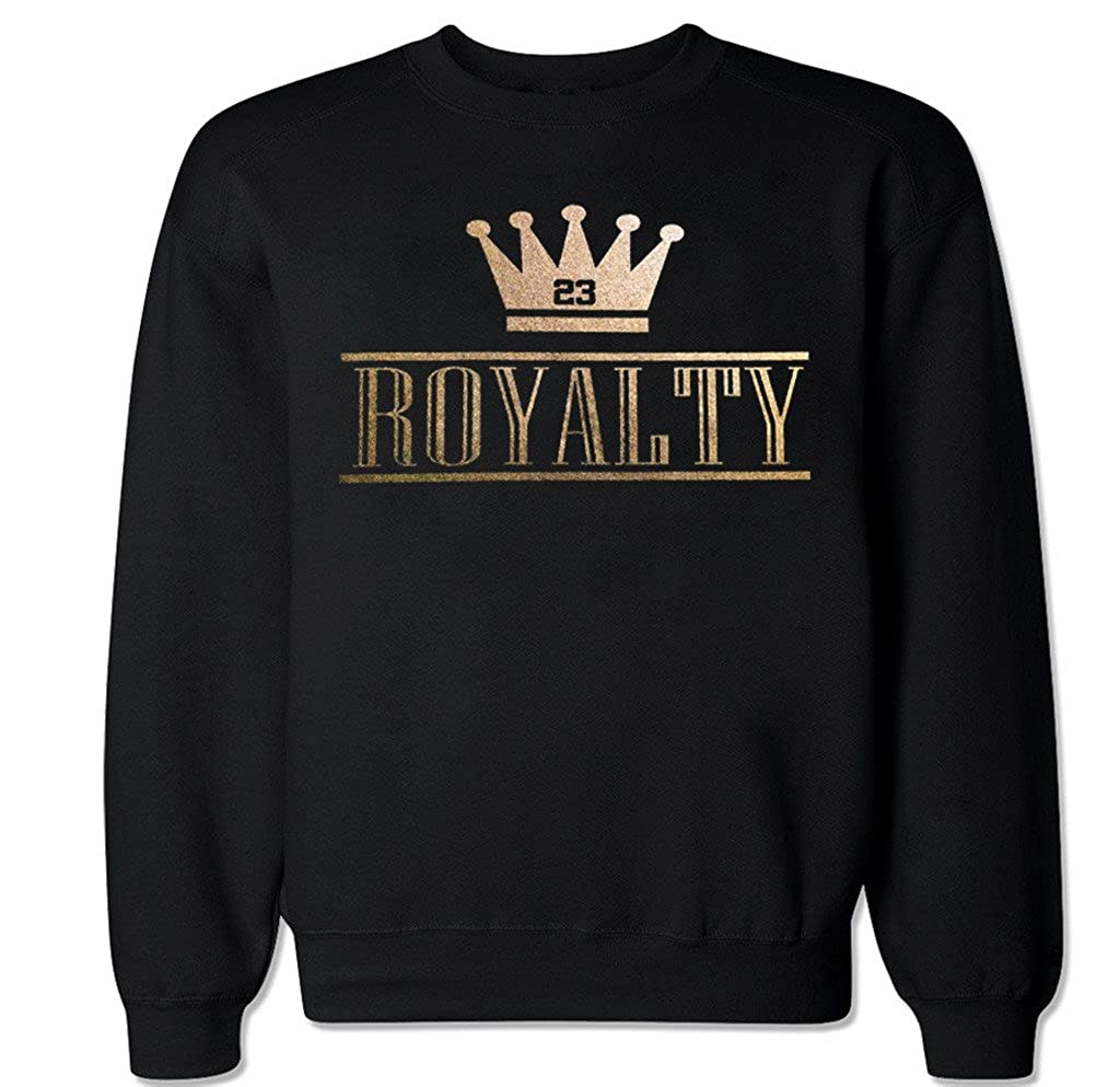 FTD Apparel Men's Royalty Crown Retro 4 Metallic Gold Crew Neck Sweater CNROYALTYCROWN-parent