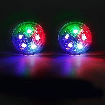 2pcs de Coches Accesorios de Puerta de Advertencia Decorativa de luz LED con la Herramienta de colisi/ón Trasera Anti inal/ámbrica