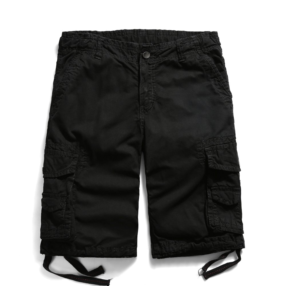 Men's Cotton Lesuire Multi Pockets Cargo Shorts