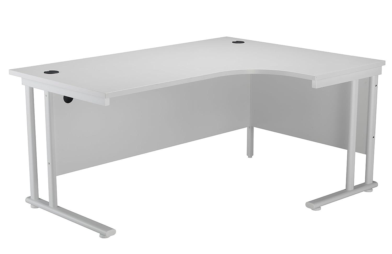 Office Hippo Professional Left Corner Office Desk, Wood, White, White Frame, 160 x 120 x 73 cm TC Group OHD0011WHWH