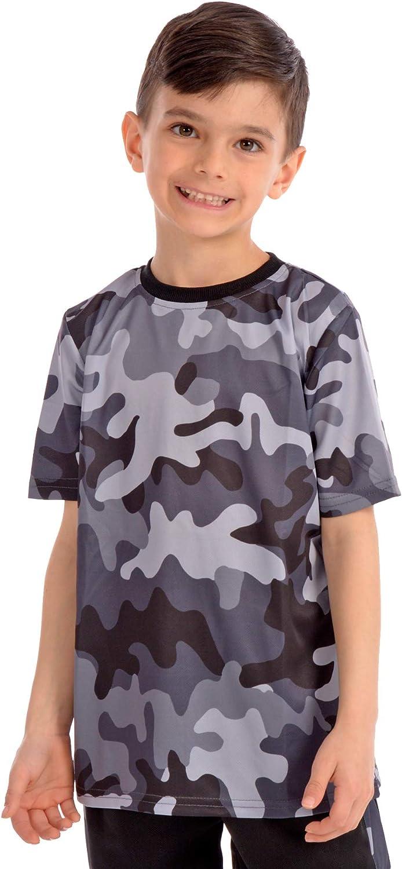 KAAP Athletic Boys Camo Short Sleeve Activewear T Shirt
