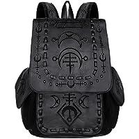 Restyle Runic Gothic Punk School Uni Backpack Festival Wicca Moon Symbols Bag