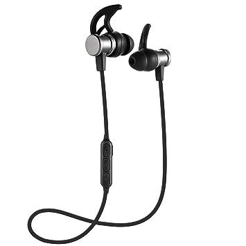 Auriculares Bluetooth Cascos Bluetooth magnéticos y Deportivos, Auriculares inalámbricos con Bluetooth 4.1 para Running. Resistentes al Sudor, Estéreo, ...