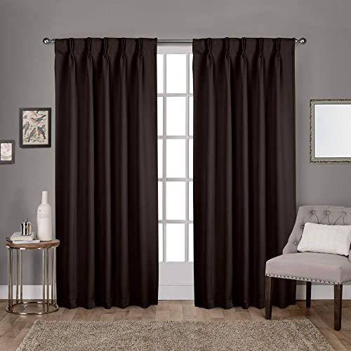 Editors' Choice: Exclusive Home Curtains Sateen Twill Woven Blackout Pinch Pleat Curtain Panel