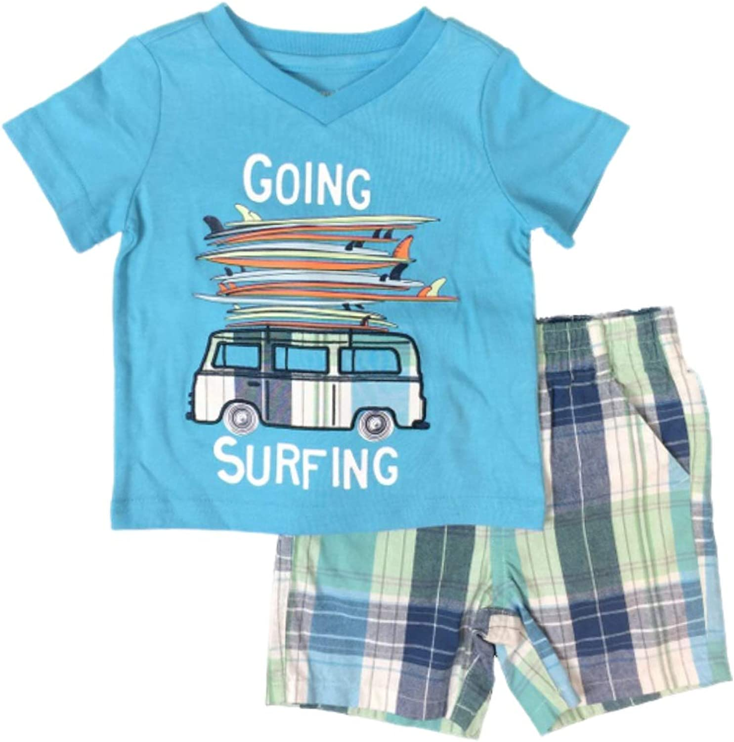 NWT Gymboree Baby Boys SURF CAMP Overalls Shorts 3 6 Surfboard Surfing Beach