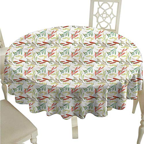 - ScottDecor Picnic Cloth Green,Colorful Autumn Floral Dinning Tabletop Decoration Round Tablecloth D 54
