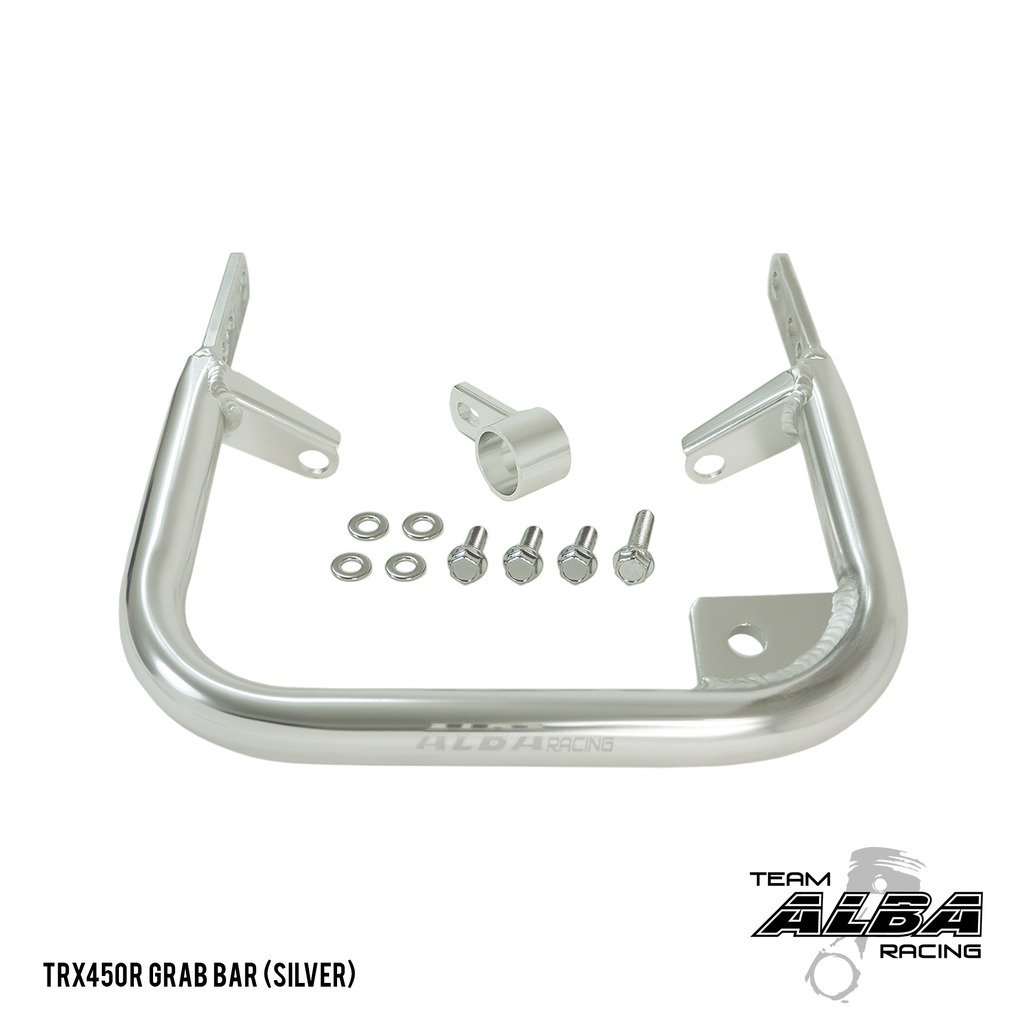 Honda TRX 450R (2004-2009 / 2012-2014) ATV Rear Grab Bar Bumper Silver