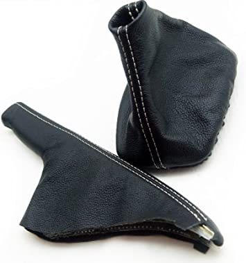 Shift Boot Real Leather Gray Stitch For 99-04 VW Jetta Vento MK4