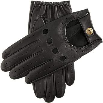 Dents Mens Delta Leather Driving Gloves - Black