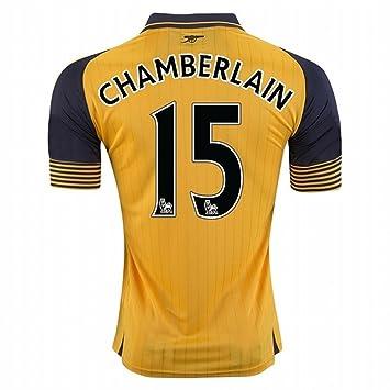 2016 2017 Arsenal 15 Alex Oxlade Chamberlain Away Football Soccer Jersey In  Yellow For New Season  Amazon.co.uk  Sports   Outdoors 636378fe5
