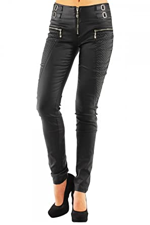 9c0e4e2fce62 Danaest and Lusty Chic Womens Leather Look Leggings Black Wet Trousers Sexy  Jeans Size 6 8