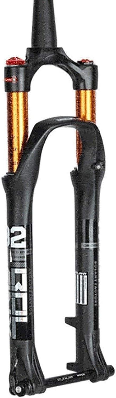 MZP Horquilla Bicicleta 27,5 29 Pulgadas MTB Horquilla Cuesta Abajo Suspensi/ón Aire para Bicicleta Cono 1-1//2 Eje Pasante 15mm Freno Disco Carrera 105mm