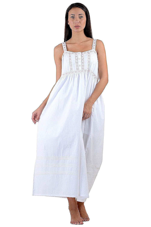 Cotton Lane White Cotton Victorian Vintage Nightdress