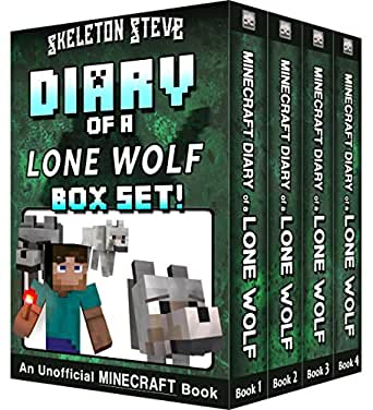 Diary of a Minecraft Lone Wolf BOX SET - 4 Book Collection 1: Unofficial Minecraft Books for Kids, Teens, & Nerds - Adventure Fan Fiction Diary Series ...