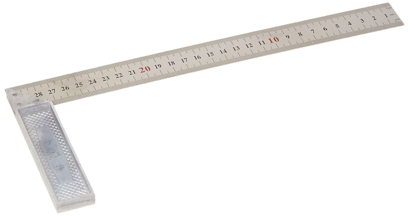 Uxcell Metric Scale Metal 90 Degree Angle Marks Try Square Ruler 30cm