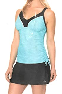 a2f3b7b7069 Gerry Ladies Tankini Set Side Draw Skort Belize 2-Piece Teal Small