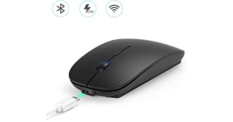 Hommie M1B Dual Mode Wireless Bluetooth Rechargeable Mouse only $4.80