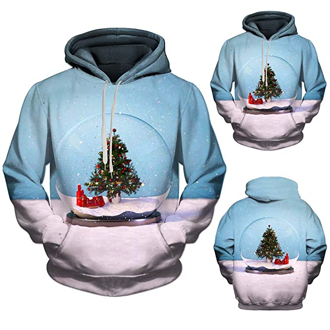 5206a8adad9888 Mode 3D Xmas Printing Hooded Sweatshirt