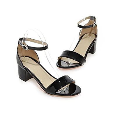 1a76a53bfd Amazon.com   Chic-Dona Summer Women Sandals Square Heel Sandals Open ...