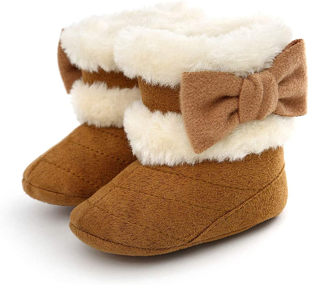 | Infant Boots Winter Baby Girl Shoes Soft Sole Anti-Slip Toddler Snow Warm Prewalker Newborn Boots | Boots