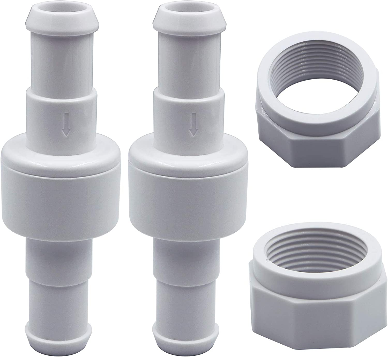 Upgraded Version for Polaris Pool Cleaner Replement Kits Suitable for Polaris 180,280,380 Pool Cleaner G52 Backup Valve Replacement Kit /& D20 Hose Swivel /& D15 Feed Hose Nut Easy to Install