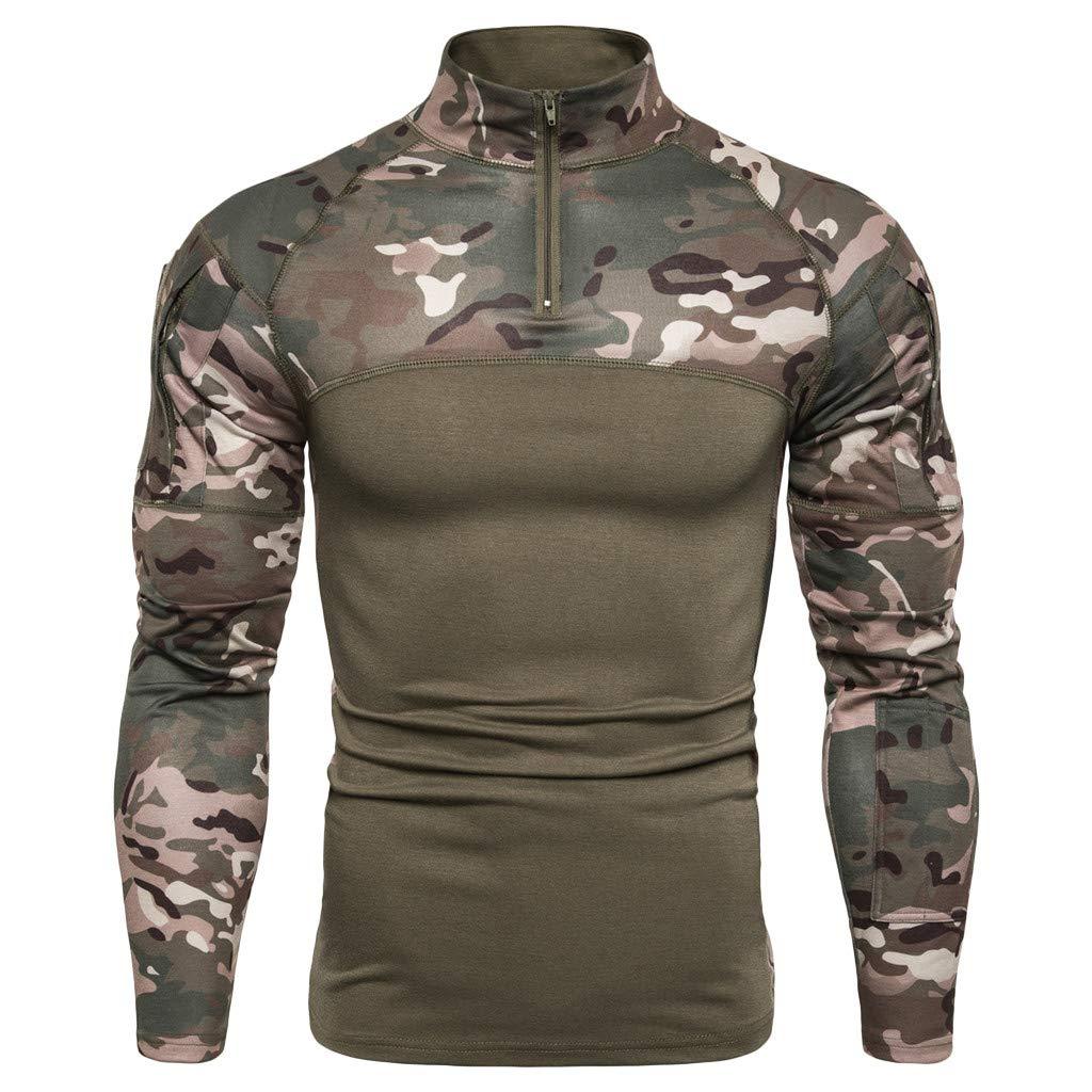 Tronet Fashion Men's Military Rapid Assault Sleeve Slim Fit Long Sleeve Combat T-Shirt by Tronet Men's tops
