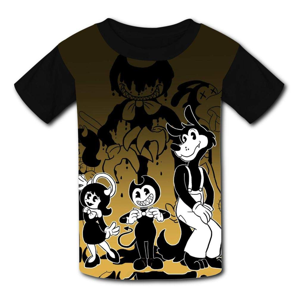 VOPSKJ14 Bendy-Family Youth Unisex Kids 3D Short Sleeve Tees T-Shirts