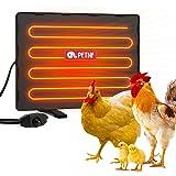 petnf Chicken Coop Heater 140 Watts Radiant Heat Chicken Heater Energy Efficient Design Safer Than Brooder Lamps Heater for C