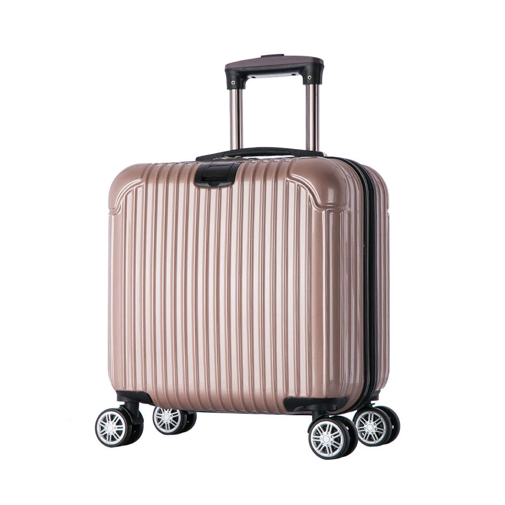 ハンド荷物スーツケース超軽量ABSハードシェル旅行は4つのホイール、航空&詳細情報のために承認されたハードシェルトロリーサイズのアドオンキャビンハンド荷物スーツケースキャリー B07P7LZMX1