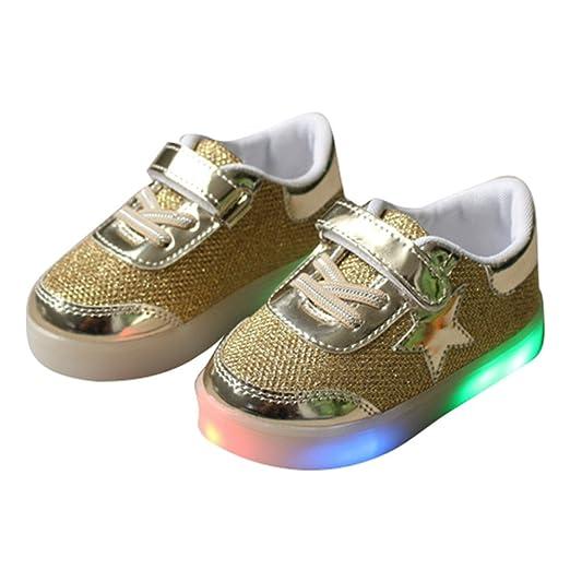 Sünching Chaussures Prewalk Garçons Fille Conduit Le Lingt Sur La Taille De La Chaussure De Sport Rose 30 dédouanement livraison rapide grosses soldes 5018w