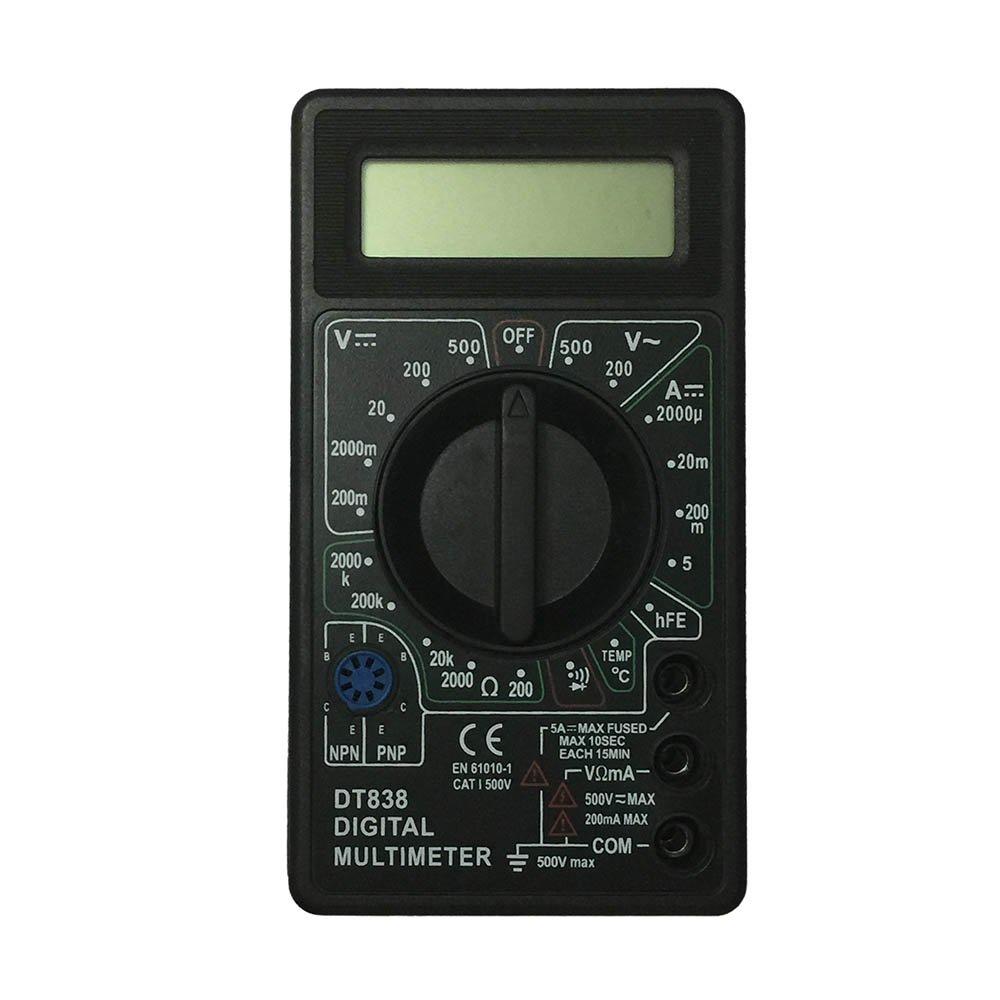 OLSUS DT838-500V LCD Handheld Digital Multimeter for Home and Car - Black + White