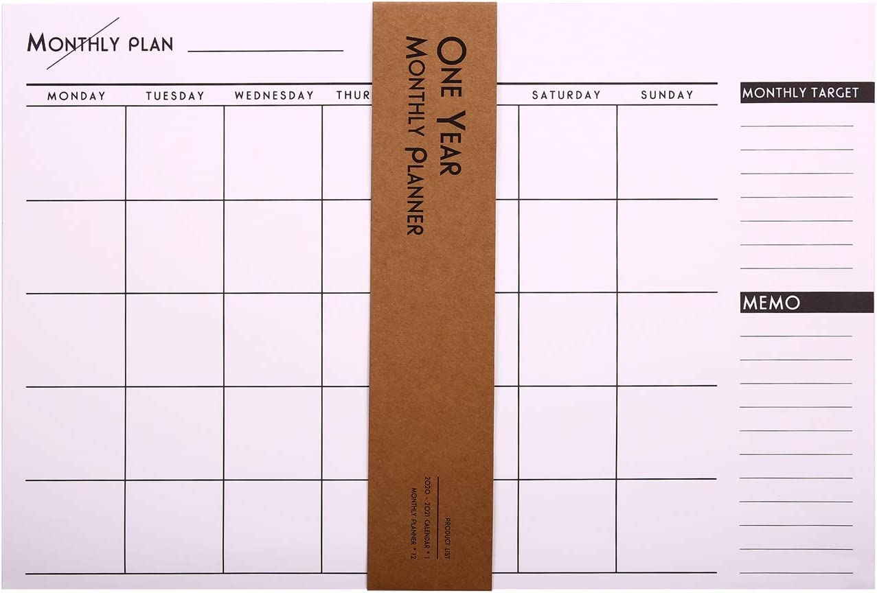 Weekly Planning Pad Plus to-Do List and Memo, 12 Sheets Desktop Planner Notepad 16.5''11.2''- Schedule, Checklist, Gratitude for Students, Office or Home