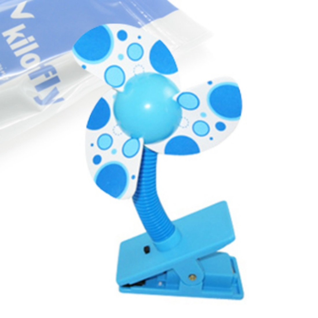 KF Baby Clip-On Mini Stroller Fan, Blue kilofly