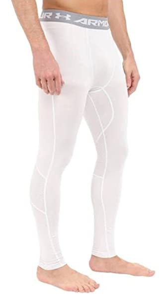 c2d3955881 Amazon.com: MMABLAST MEN'S UNDER ARMOUR HEATGEAR COOLSWITCH COMPRESSION  LEGGINGS - 1271331 - WHITE: Sports & Outdoors