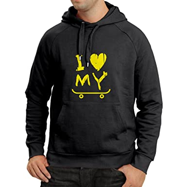 lepni.me Sudadera con Capucha I Love my Skate! - For Skaters Quotes, Skate Longboard, Skateboard Gifts: Amazon.es: Ropa y accesorios