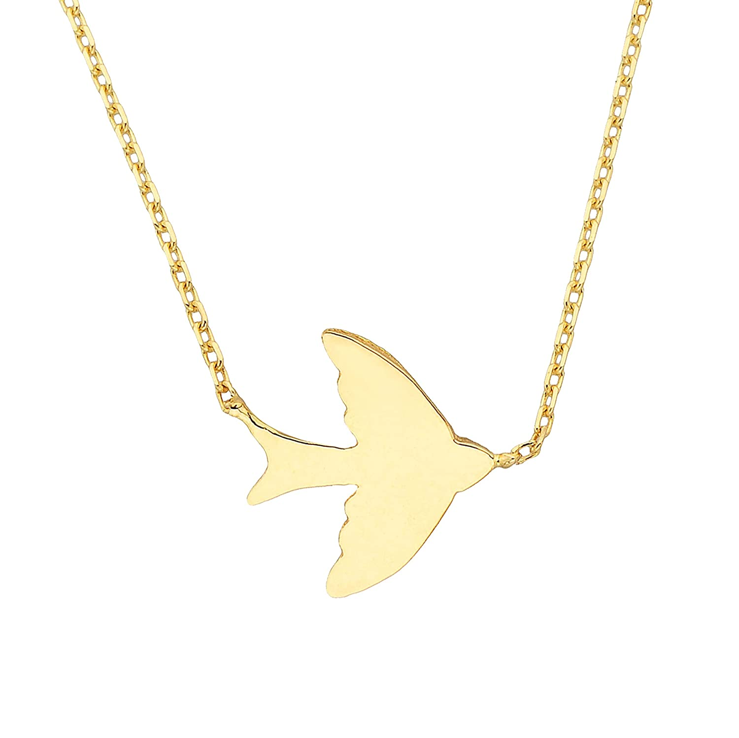 necklace in gold ox jewelry swallow bird