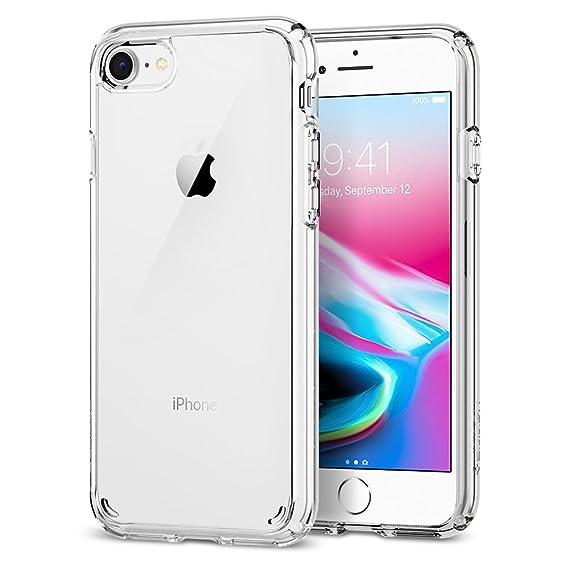 outlet store 67e87 23fb1 Spigen Ultra Hybrid [2nd Generation] Designed for Apple iPhone 7 Case  (2016) / Designed for iPhone 8 Case (2017) - Crystal Clear