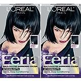#10: L'Oreal Paris Feria Permanent Hair Color, 21 Starry Night, 2 Count