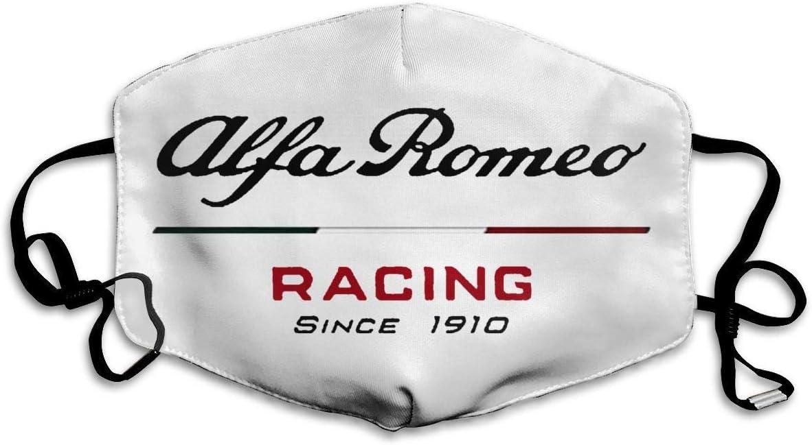 Unisex-Gesichtsdekorationen Staubschutz Alfa Romeo Racing 2020 Einstellbare Gesichtsdekorationen