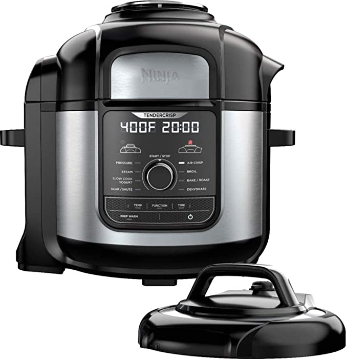 Ninja - Ninja Foodi 8qt. 9-in-1 Deluxe XL Pressure Cooker & Air Fryer - Stainless Steel/Black