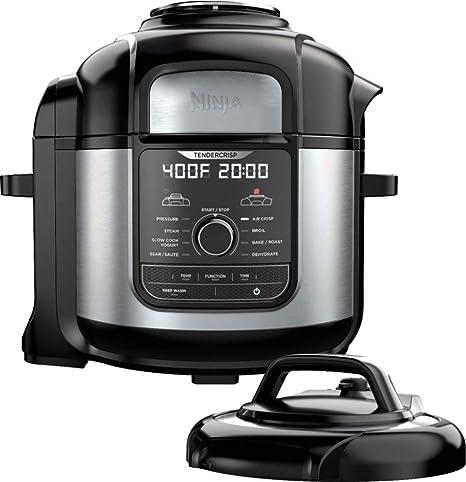 Ninja - Ninja Foodi 8qt. 9-in-1 Deluxe XL Pressure Cooker & Air Fryer - Stainless Steel/Black