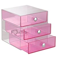 InterDesign 3 Drawer Storage Organizer for Cosmetics