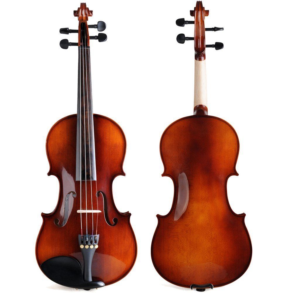 ADM Acoustic Violin 1/2 Size with Hard Case, Beginner Pack for Student, Red Brown by ADM (Image #2)