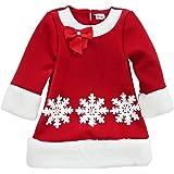 dPois Kids Girls Christmas Snowflake Santa Dress Fancy Costume