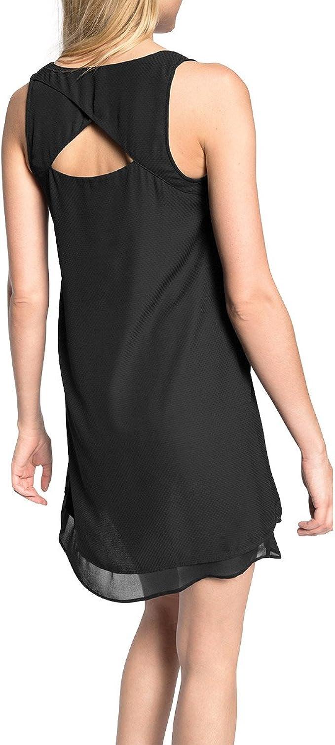 edc by ESPRIT Damen Layer Dress Kleid, Schwarz Black 9 ...