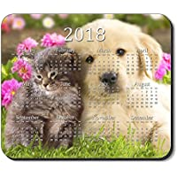 Art Plates brand - Best Friends Mouse Pad - with 2018 Calendar