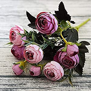 Urijk Artificial Fake Flowers, Realistic Simulation Camellia for Bedroom House Decorations Festival, Wedding Floral Table Centerpieces for Home Kitchen Garden Party Décor 48